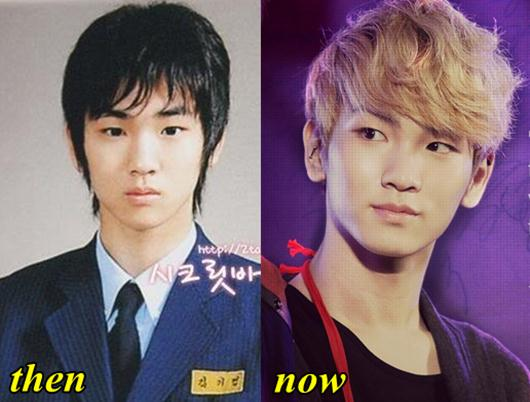 shinee key before after