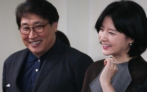 Lee Young-ae with husband