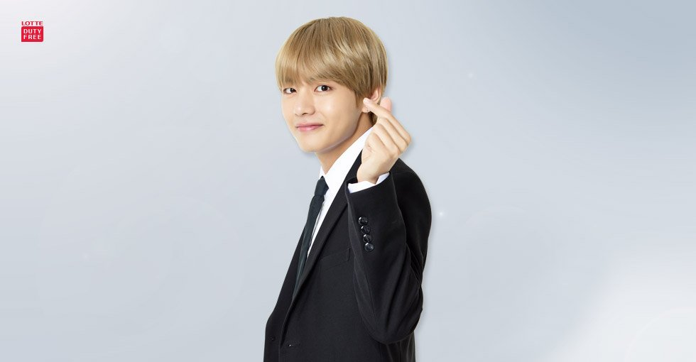 BTS V lotte shopping avenue ambassador
