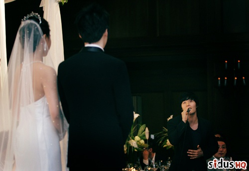 kim jong kook at jang hyuk wedding