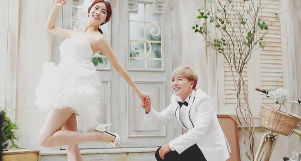 Kang So-ra and Leeteuk in We Got Married