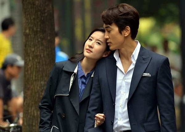 Son Seung-hun and Liu Yifei in The Third Way of Love