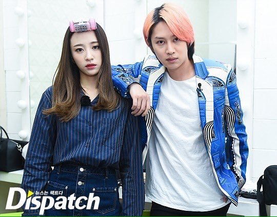 Heechul and Hani together
