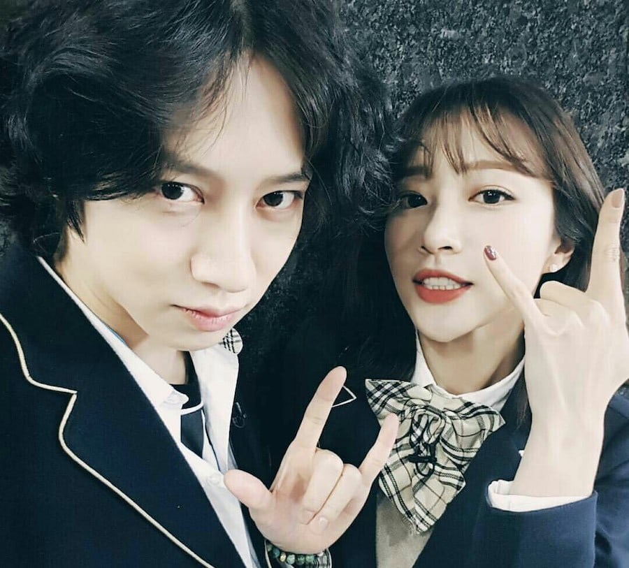 Heechul and Hani moment