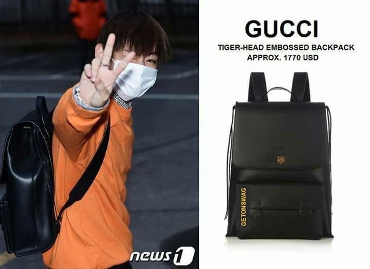 Kim Taehyung Gucci Backpack