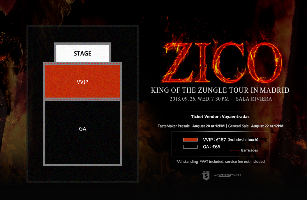 ZICO 'King of The Zungle' Tour in Madrid