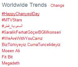 Chanyeol-23rd-birthday-trending-topic-in-twitter