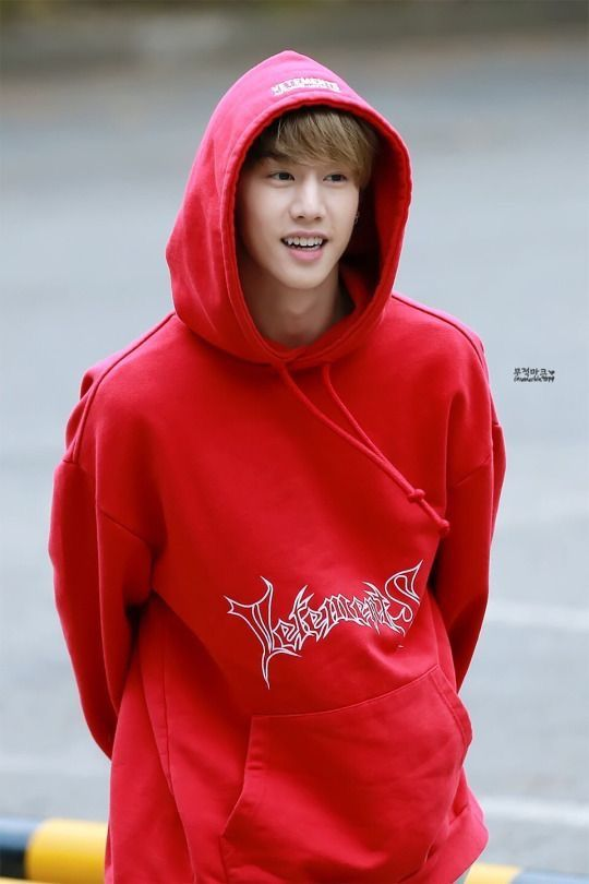 mark with hoodie