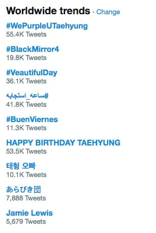 taehyung birthday
