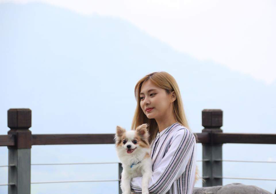 Tzuyu and her dog gucci moment